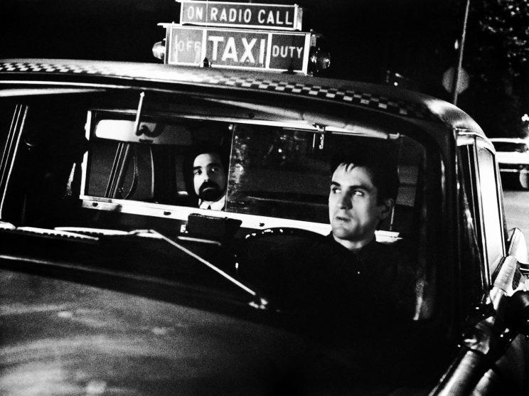 Martin Scorsese and Robert De Niro in Taxi Driver (Photo: Everett Collection)