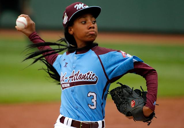 Mo'ne Davis is still performing well three years after she broke out in the Little League World Series. (AP Photo)