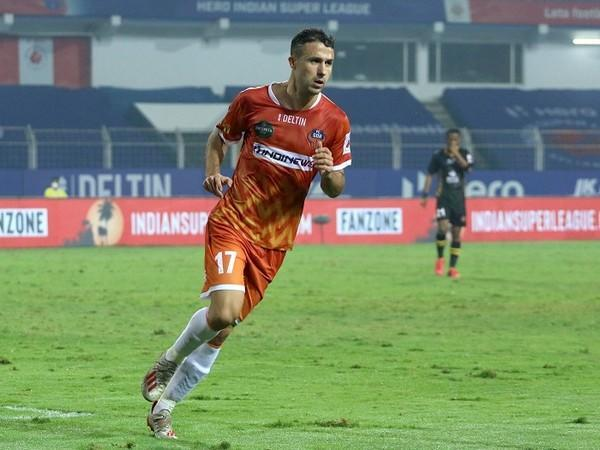 Igor Angulo's tenth goal of the season gave FC Goa the lead in the first half (Image: ISL)