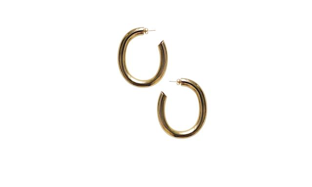 "<p>Curve earrings, $98, <a href=""http://www.lauratlombardi.com/shop/curve-earrings"" rel=""nofollow noopener"" target=""_blank"" data-ylk=""slk:lauratlombardi.com"" class=""link rapid-noclick-resp"">lauratlombardi.com</a> </p>"