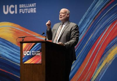 UC Irvine Chancellor Howard Gillman at Brilliant Future: The Campaign for UCI launch event on Oct. 4.
