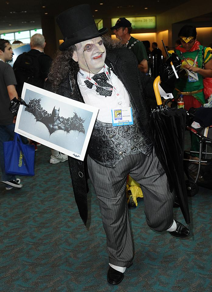 SAN DIEGO, CA - JULY 20:  Festival goers are seen during Comic-Con International at San Diego Convention Center on July 20, 2013 in San Diego, California.  (Photo by Albert L. Ortega/Getty Images)