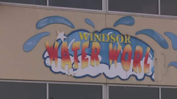 City council will consider a proposal for a permanent location for homelessness help hub that is currently operating out of Windsor Water World on Wyandotte Street East. (Dale Molnar/CBC - image credit)