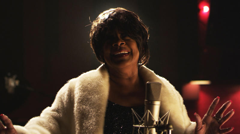 """This undated publicity photo released by Radius-TWC shows Merry Clayton in a scene from the film, """"Twenty Feet From Stardom."""" (AP Photo/Radius-TWC)"""