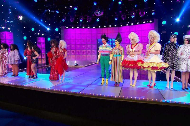 The queens of RuPaul's Drag Race season 12 during the makeover challenge (VH1): VH1