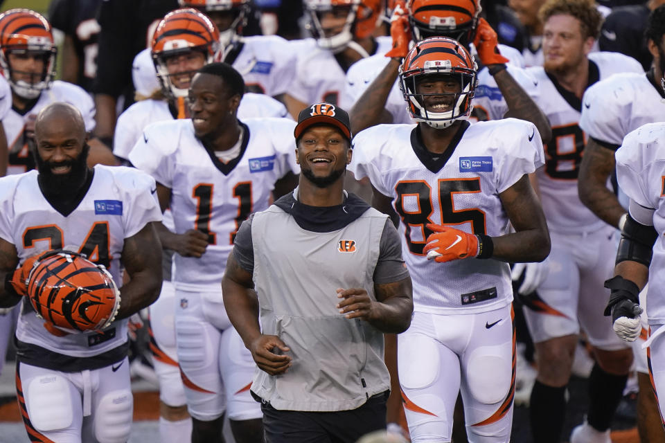 Cincinnati Bengals running back Joe Mixon reportedly agreed to a contract extension. (AP Photo/Bryan Woolston)