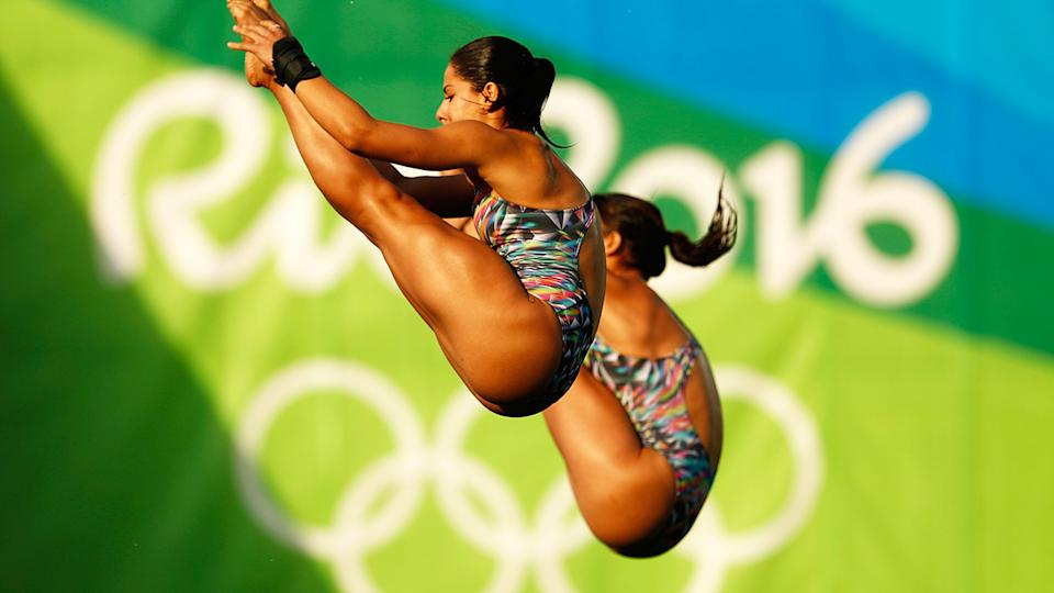 Ingrid Oliveira and Giovanna Pedroso, pictured here at the Rio 2016 Olympics.