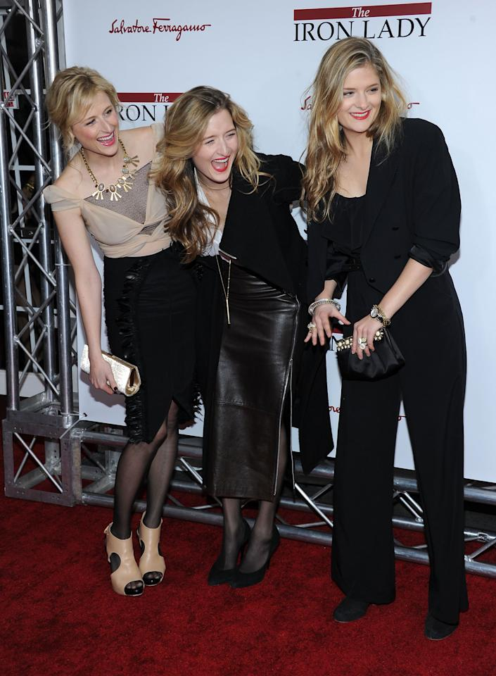"NEW YORK, NY - DECEMBER 13:  Mamie Gummer, Grace Gummer, Louisa Gummer attend the ""The Iron Lady"" New York premiere at the Ziegfeld Theater on December 13, 2011 in New York City.  (Photo by Larry Busacca/Getty Images)"