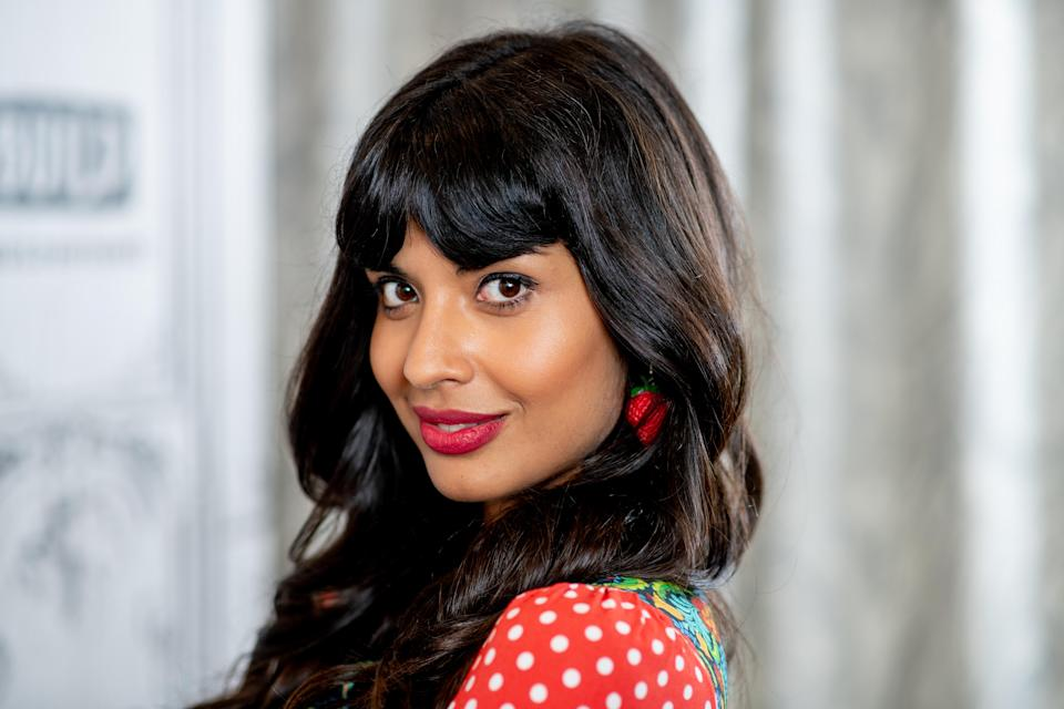 """Jameela Jamil discusses """"The Good Place"""" with the Build Series at Build Studio in 2018. (Photo: Roy Rochlin/Getty Images)"""
