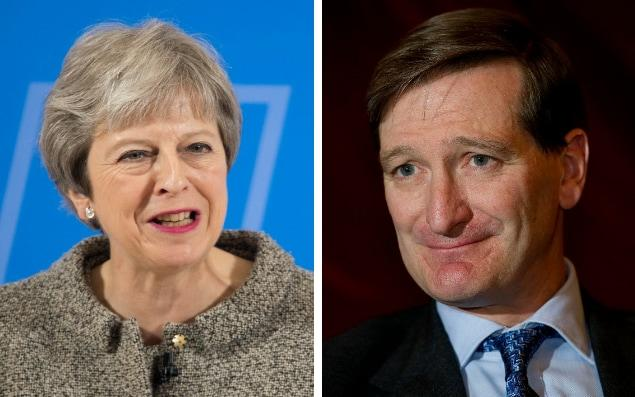 Dominic Grieve, right, and Theresa May