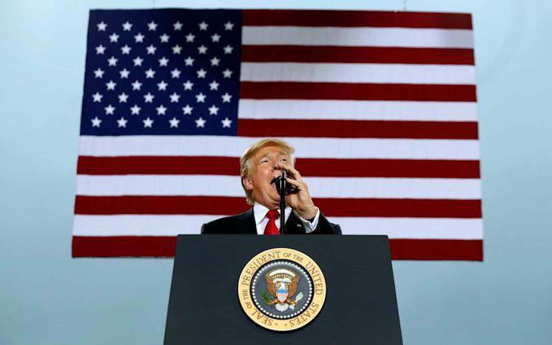 President Donald Trump speaks about tax reform during an event at the Harrisburg International Airport, Wednesday Oct. 11, 2017 - AP