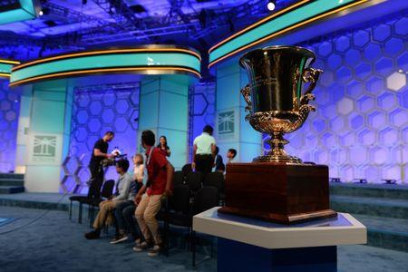 May 31, 2018; National Harbor, MD, USA; A general view of as sixteen spellers move into the evening round during the 2018 Scripps National Spelling Bee at the Gaylord National Resort and Convention Center. Mandatory Credit: Sean Dougherty-USA TODAY NETWORK