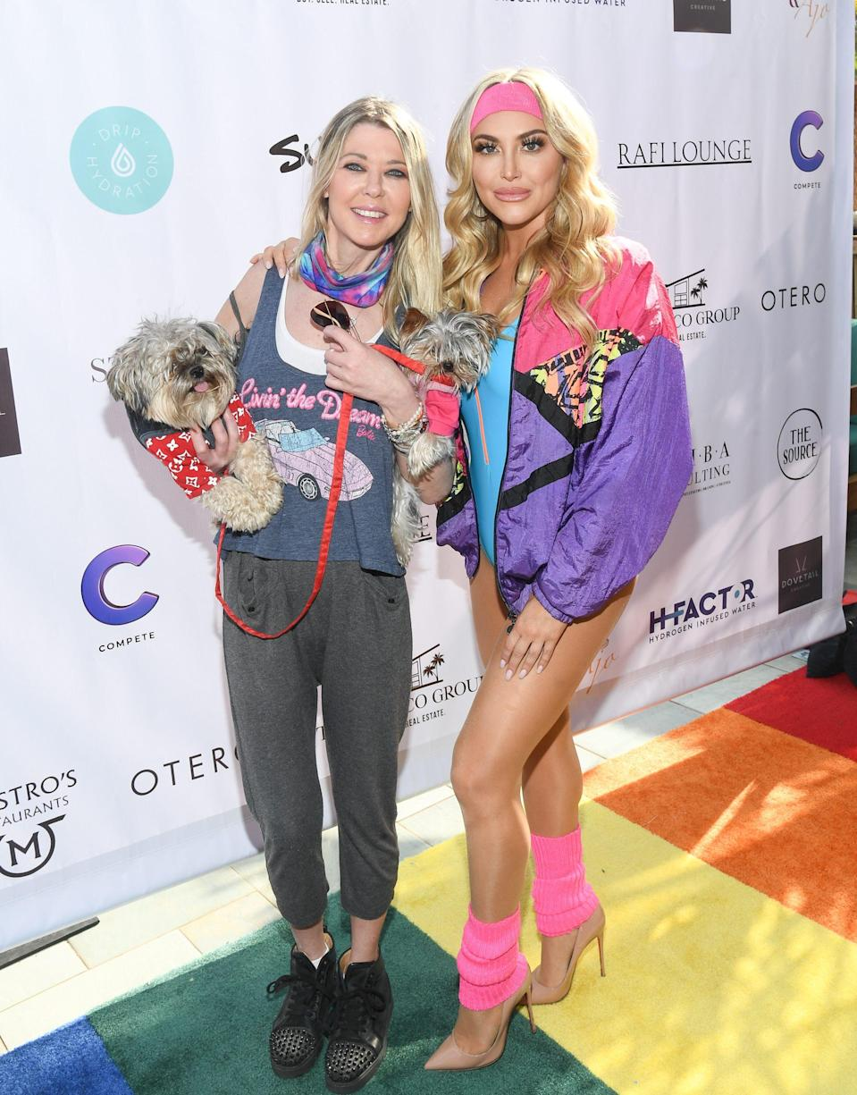 Tara Reid and Cassie Scerbo attend Cassie Scerbo's Birthday Party benefitting Boo2Bullying at Raif Lounge in Malibu, California on March 30, 2021.