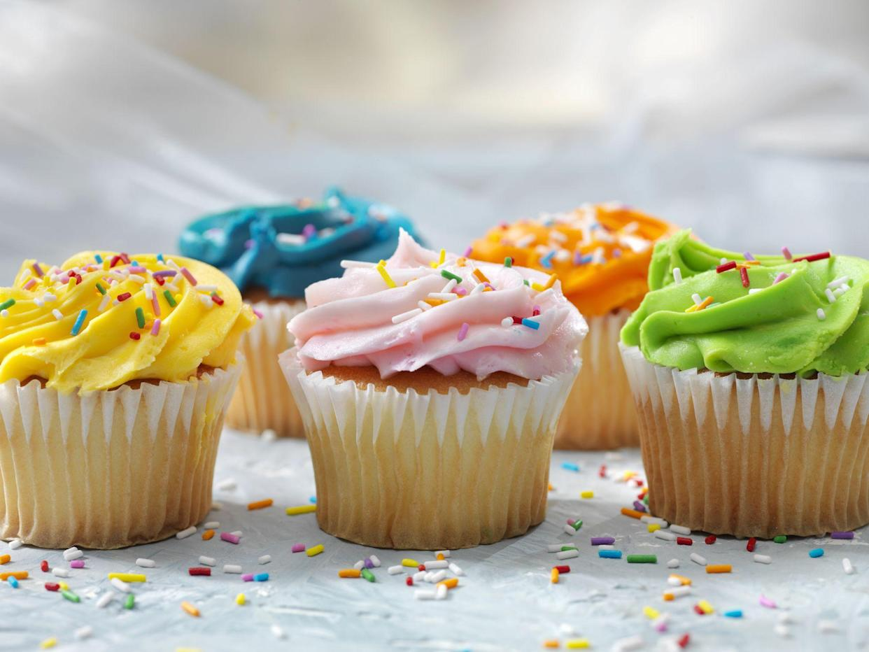 Colorful Cupcakes with Candy Sprinkles