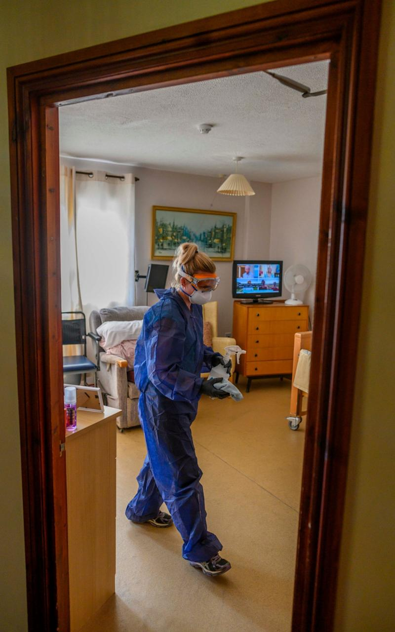 Cleaning measures are carried out at a care home