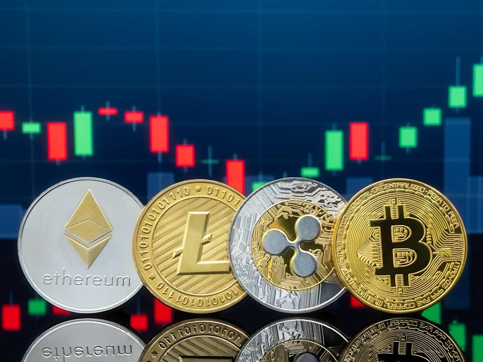 Ethereum, litecoin, ripple and bitcoin have all seen massive gains in 2021 amid a crypto market frenzy (Getty Images)