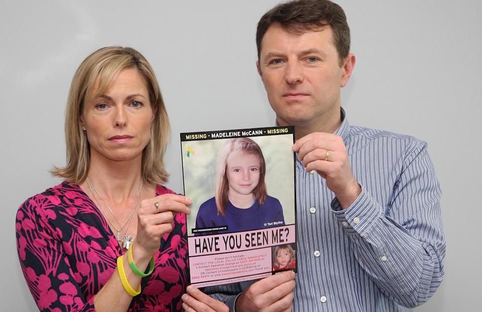Kate and Gerry McCann. Madeleine diisappeared on 3 May, 2007