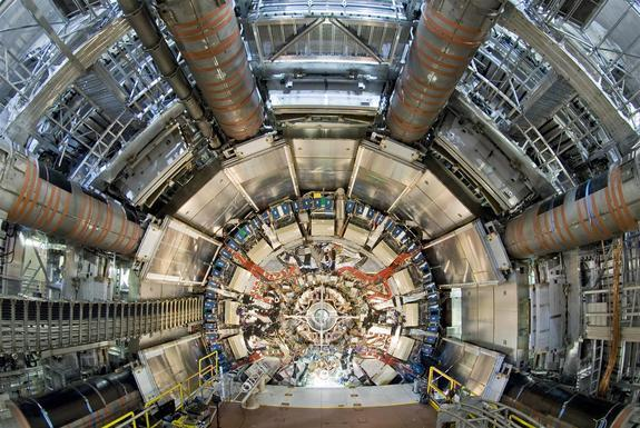 The ATLAS experiment at the Large Hadron Collider is one of the machine's two big all-purpose detectors.