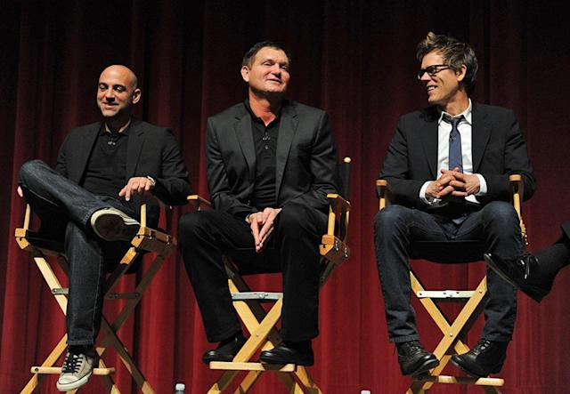 """EP Marcos Siega, Creator/EP Kevin Williamson and Kevin Bacon attend """"The Following"""" Academy Screening and Q&A at the Leonard H. Goldenson Theatre on Monday, April 29."""