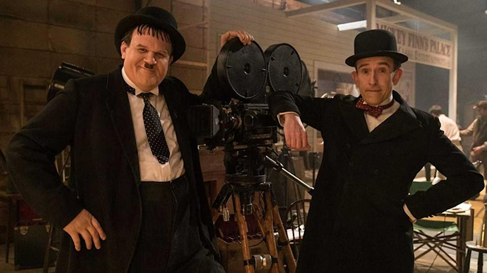 John C. Reilly and Steve Coogan as Laurel and Hardy in the biopic 'Stan & Ollie'. (Credit: eOne)