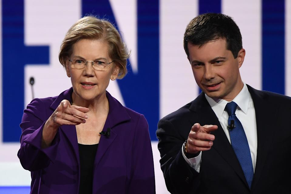 Warren and Buttigieg sparred over Medicare for all. (Photo: SAUL LOEB/AFP via Getty Images)