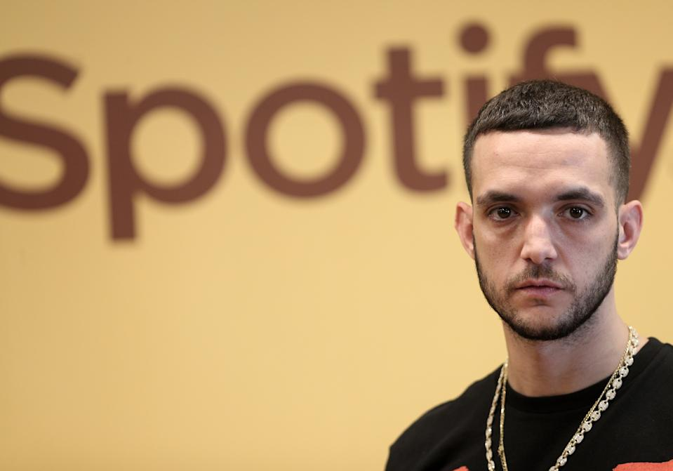 MADRID, SPAIN - SEPTEMBER 25: The trap singer and rapper, C. Tangana, is seen during the Spanish Urban Music Event organized by Spotify on September 25, 2019 in Madrid, Spain. (Photo by Eduardo Parra/Europa Press via Getty Images)