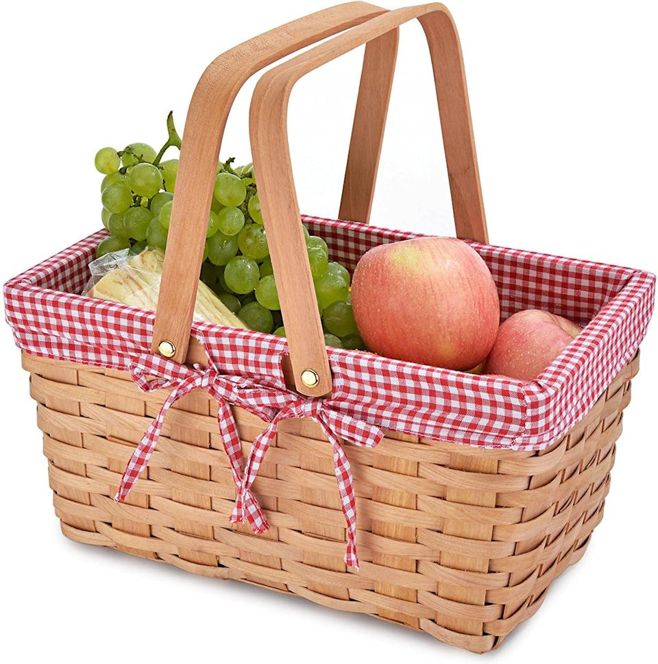 <p>This <span>California Picnic Basket</span> ($17) is a stylish choice for all your spontaneous park hangs.</p>