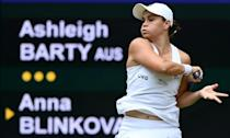 Australia's Ashleigh Barty took some takes the positives from her ability to scrap it out and win against Anna Blinkova in the second round