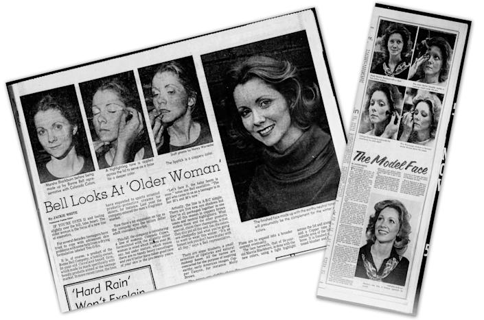 Clippings about Blackburn's fashion work in the '70s.