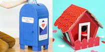 """<p>Generally speaking, it's what on the inside that counts — unless the outside is covered with pom-poms, heart stickers, and multi-colored glitter. Even though your focus may be on all <a href=""""https://www.goodhousekeeping.com/holidays/valentines-day-ideas/g1332/diy-valentines-day-cards/"""" rel=""""nofollow noopener"""" target=""""_blank"""" data-ylk=""""slk:the Valentine's Day cards"""" class=""""link rapid-noclick-resp"""">the Valentine's Day cards</a> you and your kid (okay, we know it's all you) have to make for their classmates, take some time to think about how they'll store all of the goodies that they receive at school. Paper and plastic bags will do the trick, but these valentine boxes are a way more festive option. Some are store-bought, some are easy-to-DIY, but all of these valentine box ideas are just the right size to hold all of your kid's cards, candies, trinkets, and other <a href=""""https://www.goodhousekeeping.com/holidays/valentines-day-ideas/g872/valentines-treats/"""" rel=""""nofollow noopener"""" target=""""_blank"""" data-ylk=""""slk:Valentine's Day treats"""" class=""""link rapid-noclick-resp"""">Valentine's Day treats</a>.</p><p>Pick from a bunch of valentine boxes that highlight everything the love-filled holiday is known for, like pretty-in-pink hearts and roses, or tap into your kid's top interests, everything from <em>The Mandalorian or</em> <em>Harry Potter</em>. But since there's a good chance you'll be the one putting together these <a href=""""https://www.goodhousekeeping.com/holidays/valentines-day-ideas/g2020/easy-valentines-day-craft-ideas/"""" rel=""""nofollow noopener"""" target=""""_blank"""" data-ylk=""""slk:Valentine's Day crafts"""" class=""""link rapid-noclick-resp"""">Valentine's Day crafts</a>, we made sure to include a few homemade ideas that can be used as<a href=""""https://www.goodhousekeeping.com/holidays/valentines-day-ideas/g30174656/valentines-day-decor-ideas/"""" rel=""""nofollow noopener"""" target=""""_blank"""" data-ylk=""""slk:seasonal decor in your home"""" class=""""link rapid-noclick-resp""""> seasonal decor in your """