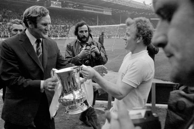 Former Leeds boss Don Revie, left, was in charge during a golden era at Elland Road