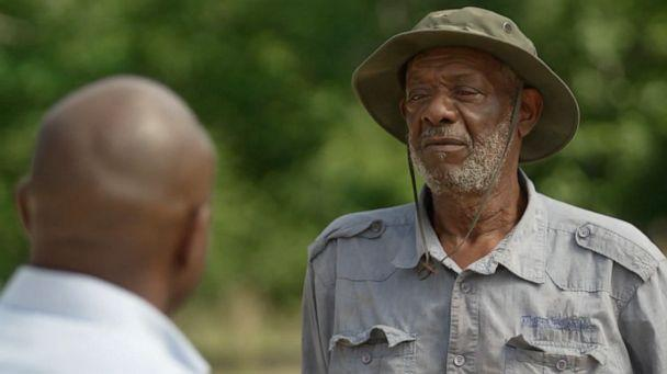 PHOTO: Lestor Bonner, a farmer in Virginia, talks to ABC News about his fight to keep his land.  (ABC News )