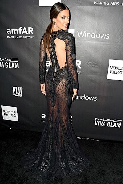Alessandra Ambrosio Is Clearly Not Wearing Underwear In Y Sheer Dress See The Gown From All Angles