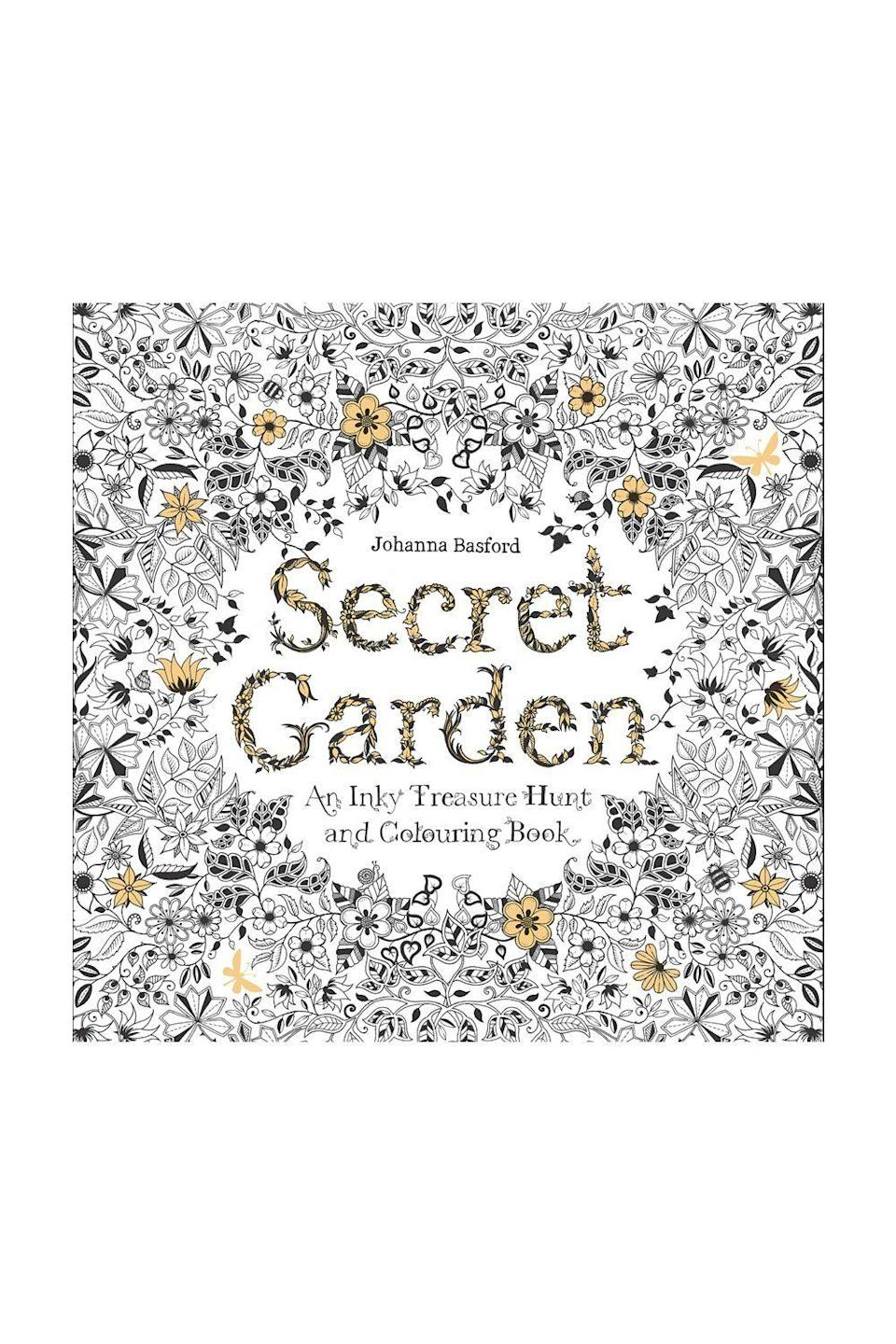 "<p><strong>ecret Garden: An Inky Treasure Hunt and Coloring Book</strong></p><p>amazon.com</p><p><strong>$9.99</strong></p><p><a href=""https://www.amazon.com/dp/1780671067?tag=syn-yahoo-20&ascsubtag=%5Bartid%7C10067.g.34414467%5Bsrc%7Cyahoo-us"" rel=""nofollow noopener"" target=""_blank"" data-ylk=""slk:Shop Now"" class=""link rapid-noclick-resp"">Shop Now</a></p><p>Beloved illustrator and adult coloring book author Johanna Basford recently revealed <a href=""https://www.instagram.com/p/B_hVj2Xluny/"" rel=""nofollow noopener"" target=""_blank"" data-ylk=""slk:on Instagram"" class=""link rapid-noclick-resp"">on Instagram</a> that when Prince William awarded her an OBE in 2016, he said his wife liked her books. ""She colours [<em>sic</em>]<em>. </em>Kate is one of us,"" she wrote.</p>"