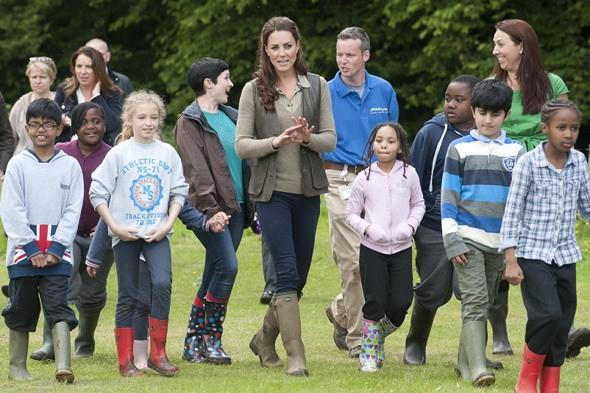 Duchess of Cambridge joins children on camping trip