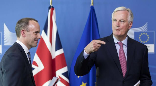 Dominic Raab and Michel Barnier are not attending this week's Brexit talks (Getty)