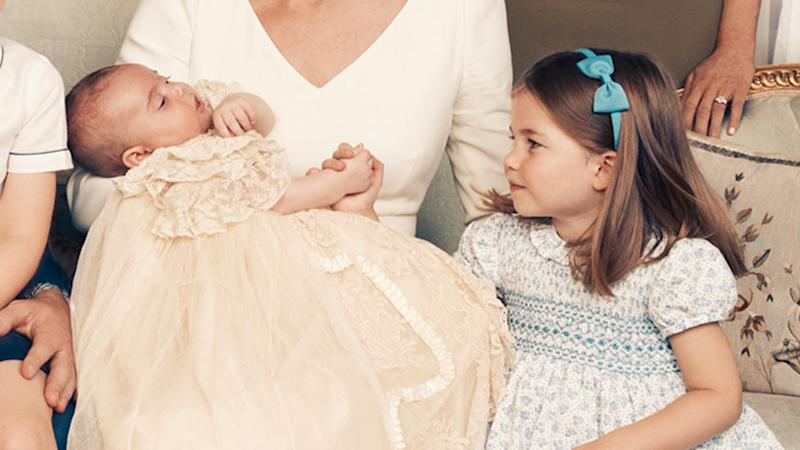 Princess Charlotte steals the show in Prince Louis' official christening photos