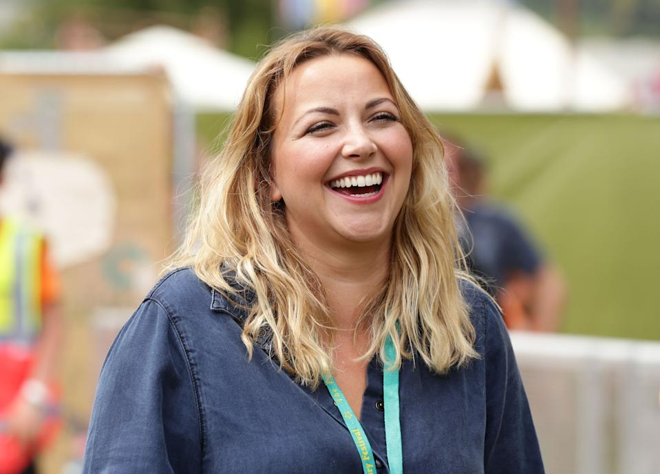 Charlotte Church during the Pussy Riot: In Conversation event, at The Park stage at the Glastonbury Festival, at Worthy Farm in Somerset.