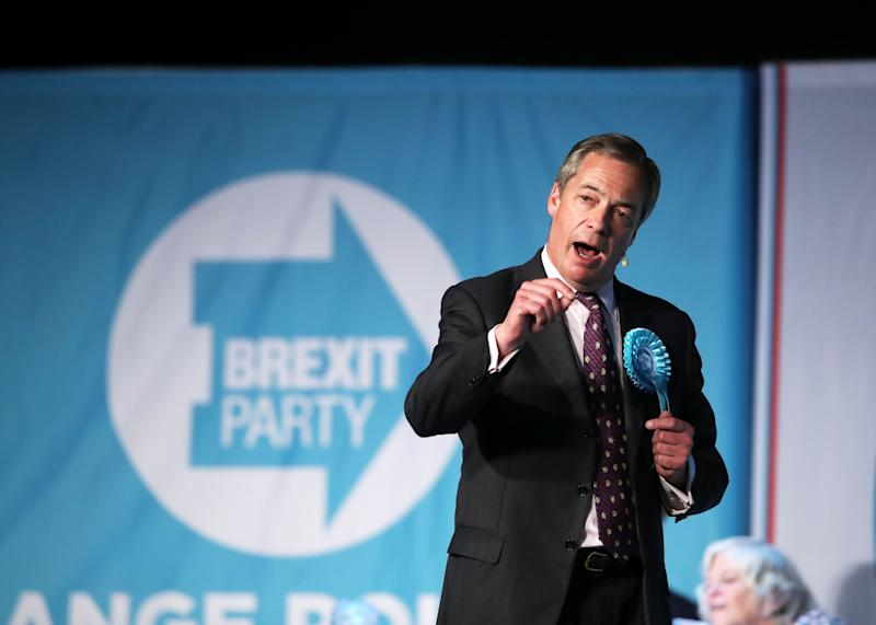 Nigel Farage's Brexit Party is expected to do well at this month's European Elections (Picture: PA)