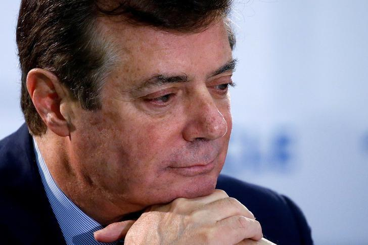 FILE PHOTO: U.S. Republican presidential candidate Donald Trump's campaign chair and convention manager Paul Manafort appears at a press conference at the Republican Convention in Cleveland, U.S., July 19, 2016.  REUTERS/Carlo Allegri/File Photo