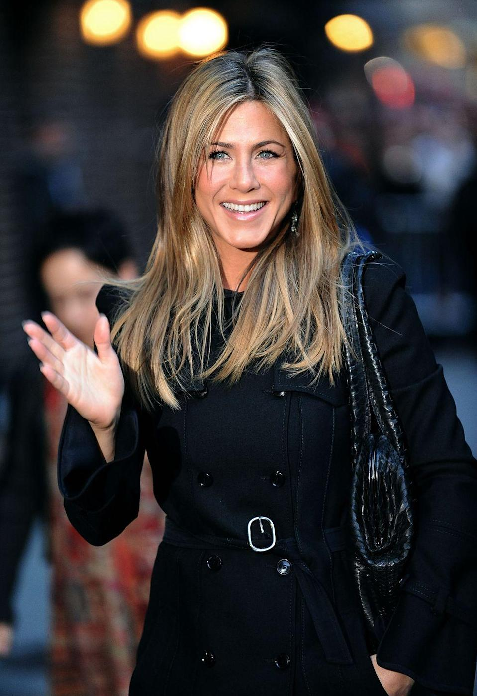 """<p>Aniston talks Pitt and Jolie again, this time with <em><a href=""""https://www.vogue.com/article/jennifer-aniston-prime-time"""" rel=""""nofollow noopener"""" target=""""_blank"""" data-ylk=""""slk:Vogue"""" class=""""link rapid-noclick-resp"""">Vogue</a></em>. She explains that she was hurt by stories Brangelina shared with the press about falling for each other during their marriage. </p><p>""""There was stuff printed there that was definitely from a time when I was unaware that it was happening,"""" she says. """"I felt those details were a little inappropriate to discuss. That stuff about how she couldn't wait to get to work every day? That was really uncool.""""</p>"""