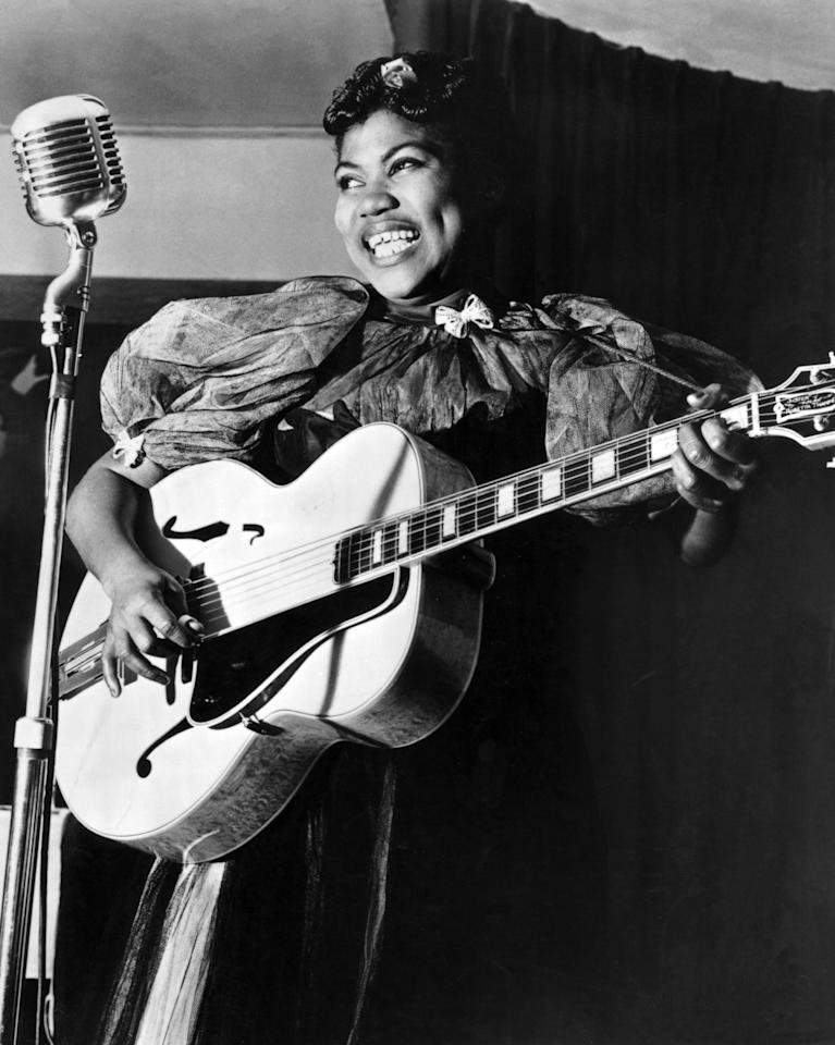 "<p>If you like rock and roll, you need to send a prayer of thanks to the <a href=""http://www.npr.org/2017/08/24/544226085/forebears-sister-rosetta-tharpe-the-godmother-of-rock-n-roll"" target=""_blank"" class=""ga-track"" data-ga-category=""Related"" data-ga-label=""http://www.npr.org/2017/08/24/544226085/forebears-sister-rosetta-tharpe-the-godmother-of-rock-n-roll"" data-ga-action=""In-Line Links"">bisexual godmother of the genre, Sister Rosetta Tharpe</a>. Tharpe grew up with music as a part of her life, and by her 20s, she was mastering a style that was born in the Black community - bringing together the sounds of jazz, blues, and gospel. Wherever Tharpe went, she was a star - and the popularity was well earned. She performed as a solo artist and occasionally with groups, even <a href=""http://afropunk.com/2019/03/rosetta-tharpe/"" target=""_blank"" class=""ga-track"" data-ga-category=""Related"" data-ga-label=""http://afropunk.com/2019/03/rosetta-tharpe/"" data-ga-action=""In-Line Links"">making it all the way to the Cotton Club and Carnegie Hall</a>.</p> <p>After a career that stretched across the United States and Europe, Sister Mary Tharpe retired in Philadelphia, but her influence lives on in the music we love today. Her groundbreaking style <a href=""http://www.newyorker.com/recommends/read/shout-sister-shout-a-biography-of-sister-rosetta-tharpe"" target=""_blank"" class=""ga-track"" data-ga-category=""Related"" data-ga-label=""http://www.newyorker.com/recommends/read/shout-sister-shout-a-biography-of-sister-rosetta-tharpe"" data-ga-action=""In-Line Links"">would inspire many other artists</a>, including Johnny Cash, Chuck Berry, and Aretha Franklin. </p> <p>While <a href=""http://www.rollingstone.com/movies/movie-news/yola-plays-sister-rosetta-tharpe-elvis-film-956652/"" target=""_blank"" class=""ga-track"" data-ga-category=""Related"" data-ga-label=""http://www.rollingstone.com/movies/movie-news/yola-plays-sister-rosetta-tharpe-elvis-film-956652/"" data-ga-action=""In-Line Links"">news recently broke</a> that British artist Yola will be playing Tharpe in upcoming Baz Luhrmann's upcoming Elvis film, this woman deserves the full spotlight and her own movie.</p>"