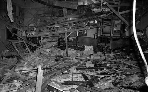 Inside the Mulberry Bush pub in Birmingham after the blast - Credit: PA