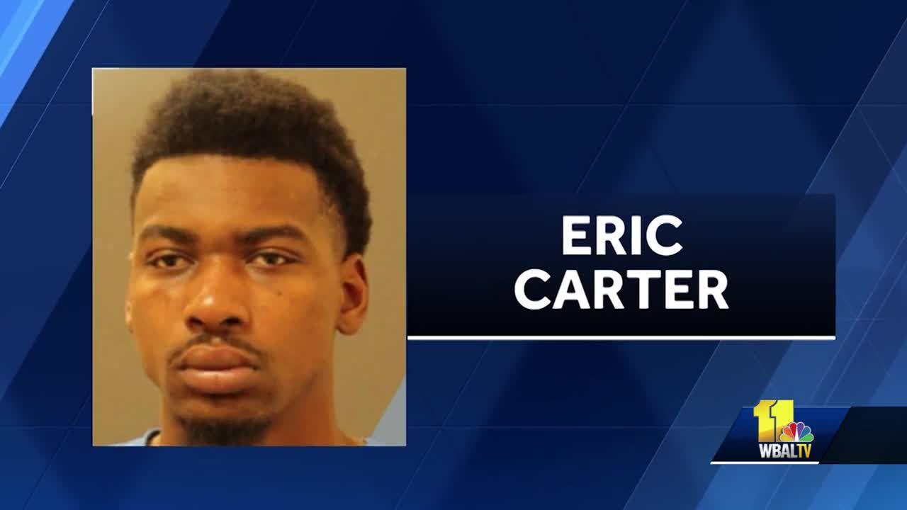 Police are trying to track down the man who they said is responsible for a string of crimes after a car was stolen from Baltimore City and wound up in a Baltimore County backyard. Police said a man stole a Honda at a gas station on Edmondson Avenue in west Baltimore before dawn on April 17. The car's owner was dragged across the parking lot in the process of the crime.