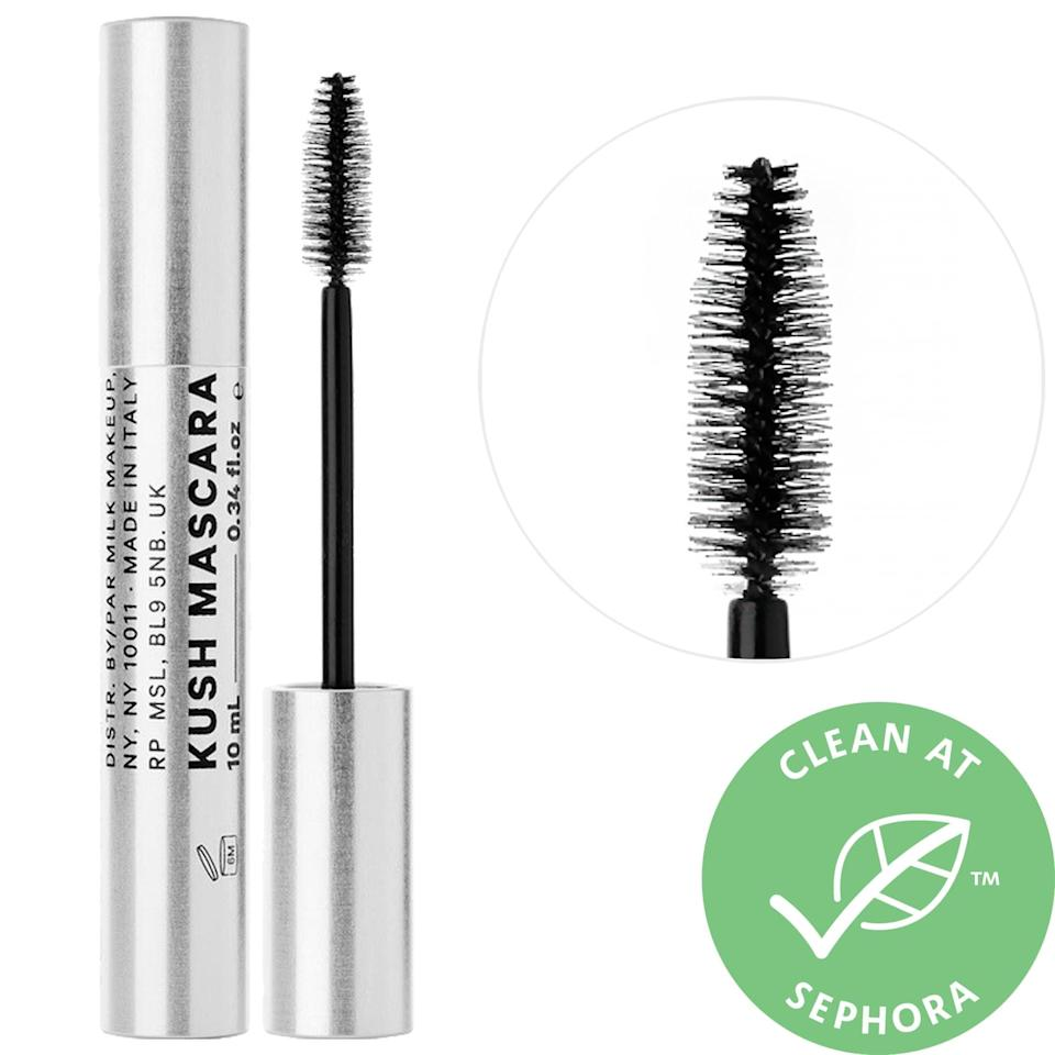 """<p><strong>Item: </strong><span>Milk Makeup Kush High Volume Mascara</span> ($12-$24)</p> <p><strong>What our editor said:</strong> """"Mascaras expire after three to four months, and I just hit that sad milestone with [this mascara]. Before I run off to Sephora and buy a new one (or five), I intend to give this little guy a Viking funeral to commemorate how much he meant to my lashes. I love that I can apply it without a mirror and still get a lifted-but-natural look every time. An added bonus? The formula is made with CBD oil (hence, Kush), not beeswax, which means it's vegan."""" - Alaina Demopoulos, contributing writer, Beauty</p> <p>If you want to read more, here is <a href=""""https://www.popsugar.com/beauty/Best-Mascaras-According-Editors-45079012"""" class=""""link rapid-noclick-resp"""" rel=""""nofollow noopener"""" target=""""_blank"""" data-ylk=""""slk:the complete review"""">the complete review</a>.</p>"""
