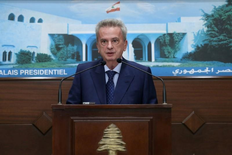 FILE PHOTO: Lebanon's Central Bank Governor Riad Salameh speaks after meeting with President Michel Aoun at the presidential palace in Baabda