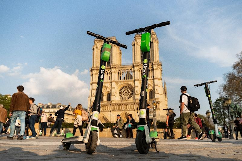 Critics say the scooters pose a grave safety risk for both users and pedestrians (AFP Photo/KENZO TRIBOUILLARD)