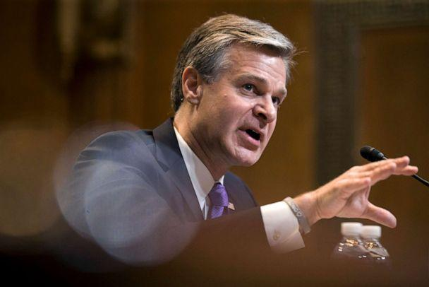 PHOTO: FBI Director Christopher Wray testifies during a hearing on Capitol Hill, May 7, 2019 in Washington, D.C. (Alex Brandon/AP, FILE)