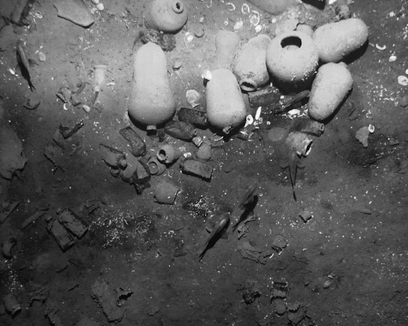 The remains of the Spanish galleon San Jose sunk off the Caribbean coast of Cartagena de Indias, Colombia in an undated picture released on December 5, 2105 by the Colombian Culture Ministry's press office