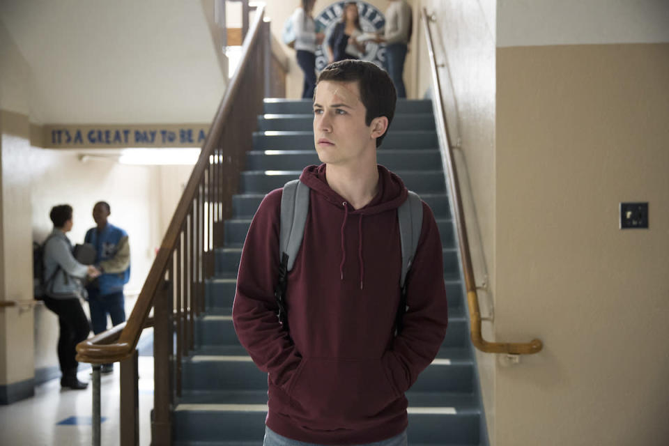"""<p>High school junior Clay Jensen is the recipient of Hannah's haunting tapes, which detail the 13 reasons why she killed herself. While her movie theater co-worker wasn't behind one of the """"reasons"""" why she ended her life, he narrates much of the series from a teen point of view. (Photo: Netflix) </p>"""
